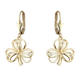 Solvar: 14k Diamond Shamrock drop Earrings - Hibernian Gifts