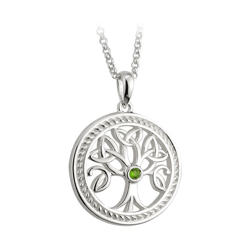 Solvar: Sterling Silver 'Tree of Life' Pendant - Hibernian Gifts