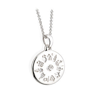 History of Ireland Sterling Silver Disc Pendant - Hibernian Gifts