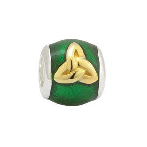 Solvar: Sterling Silver and Gold Plated Trinity Knot Bead - Hibernian Gifts
