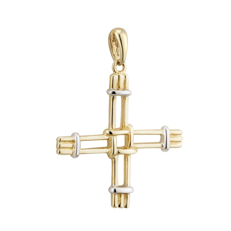Solvar: 14k Gold St Bridgets Cross Charm - Hibernian Gifts