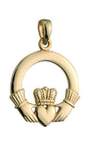14k Medium Claddagh Charm