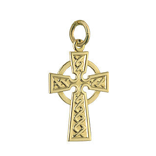 Solvar: 14k Celtic Cross 15mm - Hibernian Gifts