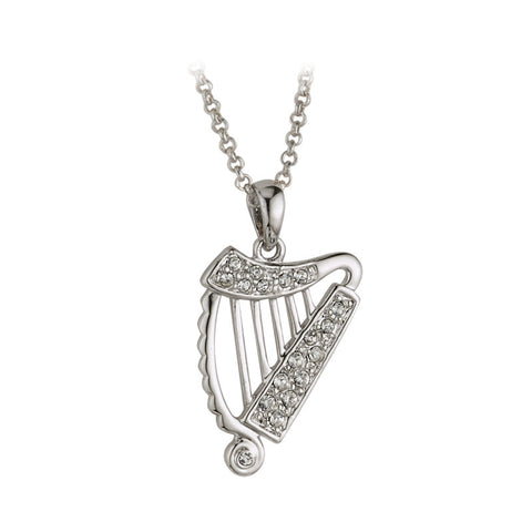 Tara Irish Harp Necklace - Hibernian Gifts