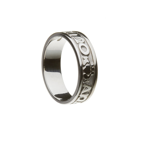 "Silver Ladies ""Mo Anam Cara"" Ring - Hibernian Gifts"
