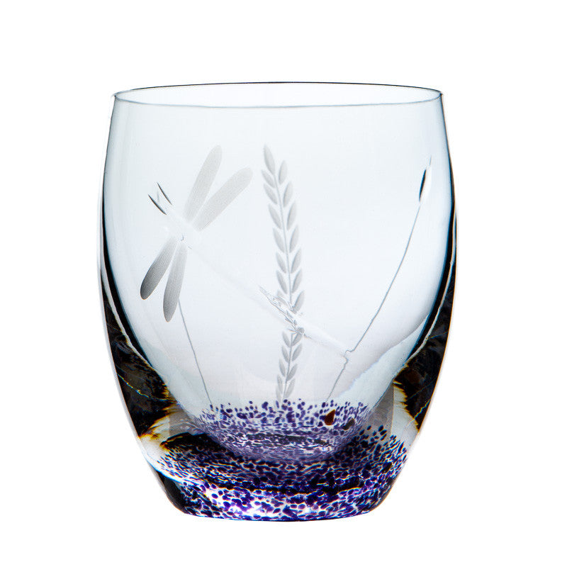 The Irish Handmade Glass Company: Wild Heather Pair of Tumblers - Hibernian Gifts