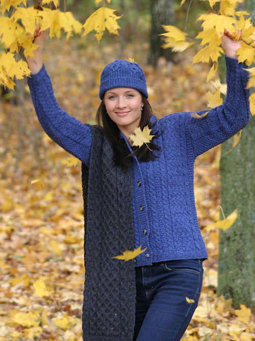 Westend Knitwear: Button Knitted Cardigan - Hibernian Gifts - 1