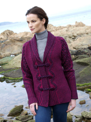 Westend Knitwear:Loop Button Cardigan - Hibernian Gifts - 1