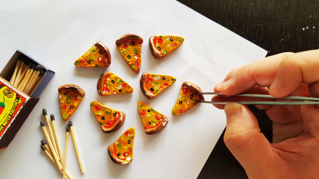 Pizza Brooches