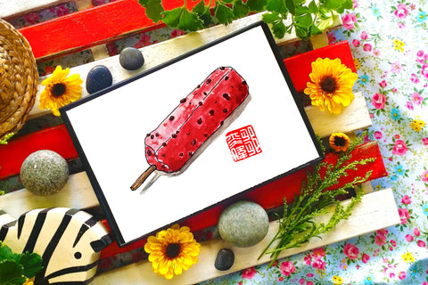 Red Bean Potong Print