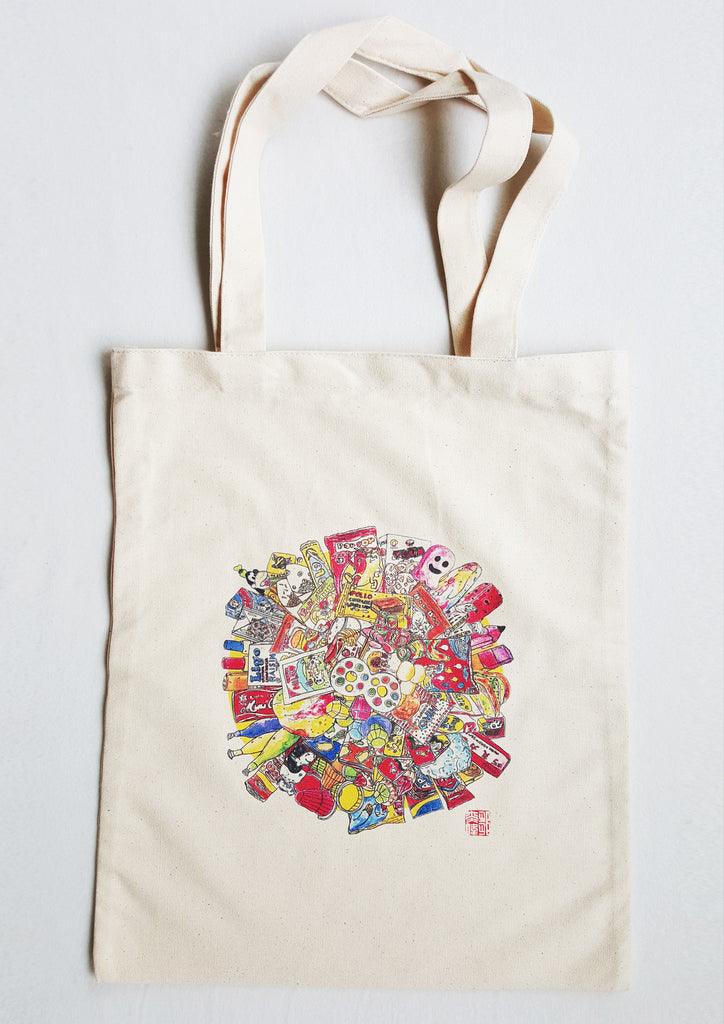 Childhood Snacks Tote Bag