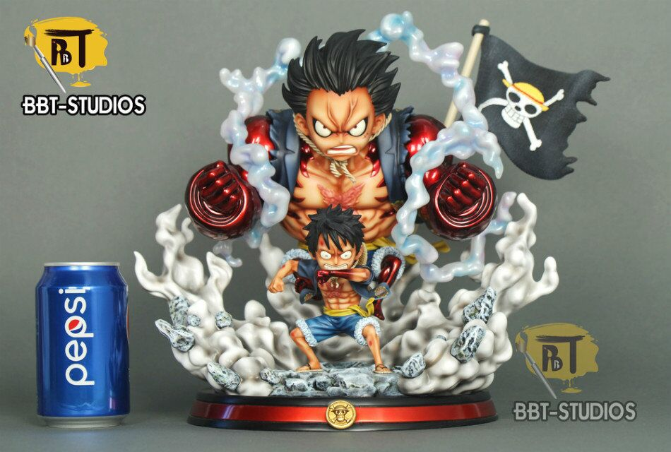 One Piece Bbt Studios Sd0019 Monkey D Luffy Gear 4 Double Luffy Resin Statue