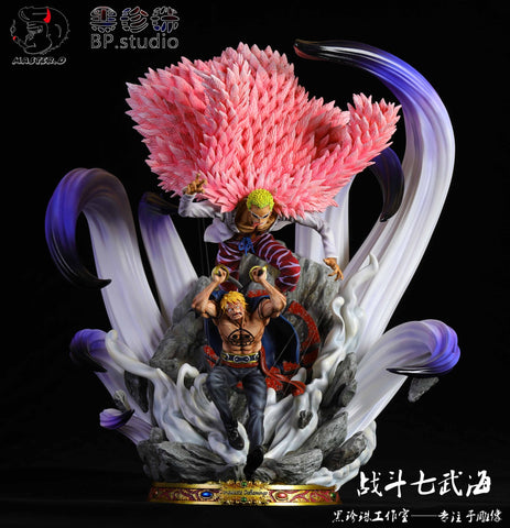 [PO] One Piece BP Studio and Master. D Studio Shichibukai Donquixote Doflamingo and Bellamy Parasite Control Resin Statue