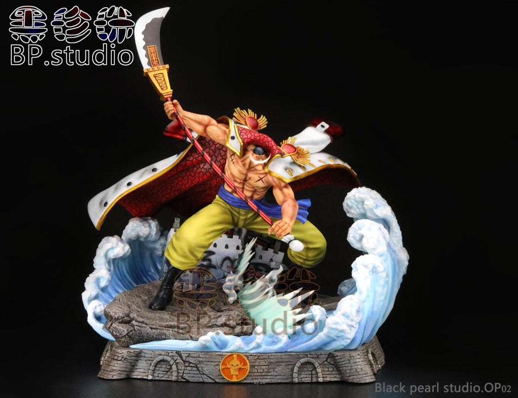 [Back Order] One Piece BP Studio Marineford War Whitebeard Edward Newgate Resin Statue