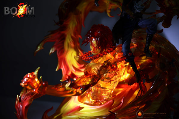 [Back Order] One Piece - Boom Studio - Flame Dragon Sabo with Portgas D. Ace Resin Statue