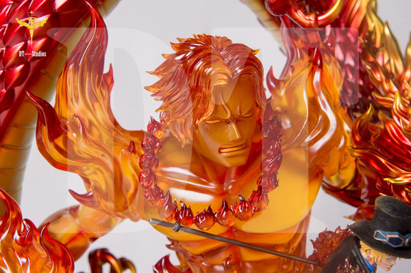 [Back Order] One Piece - DT Studios - DX Flame Dragon Sabo with Portgas D. Ace Resin Statue