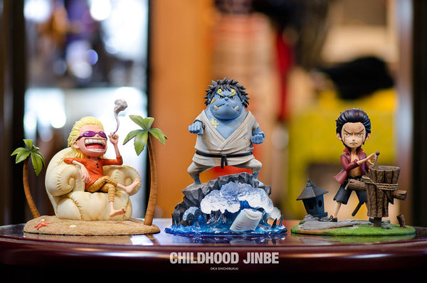 One Piece - FOC Studio - Childhood Young Jinbe Resin Statue