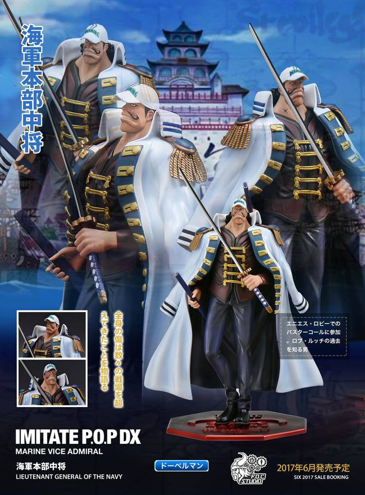 One Piece - FOC Studio - Marine Vice Admiral Doberman Resin Figure