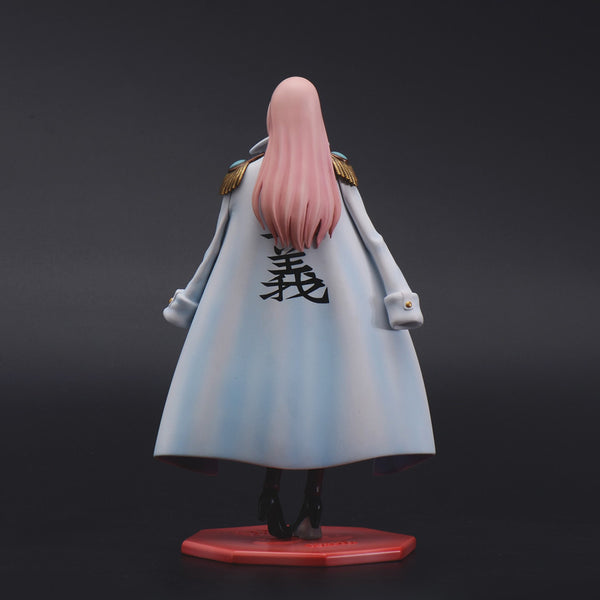 One Piece F.O.C 002 Marine Rear Admiral Black Cage Hina Resin Figure