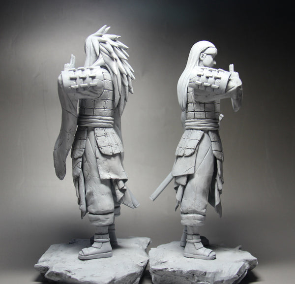 Naruto Shippuden Fire Phenix 1.0 Valley of the End Uchiha Madara and Hashirama Senju Resin Statue (Set of 2)