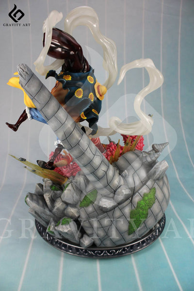 One Piece Gravity Art Luffy vs Doflamingo Resin Statue