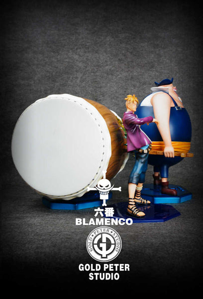 [Back Order] One Piece Gold Peter Studio Whitebeard Pirates 6th Division Commander Blamenco Resin Statue