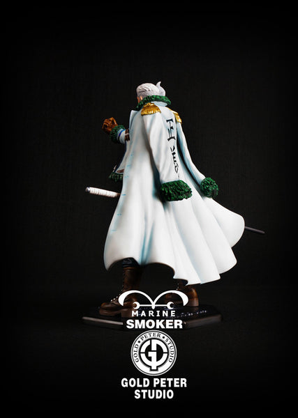 [Back Order] One Piece Gold Peter Studio Marine Smoker Resin Statue