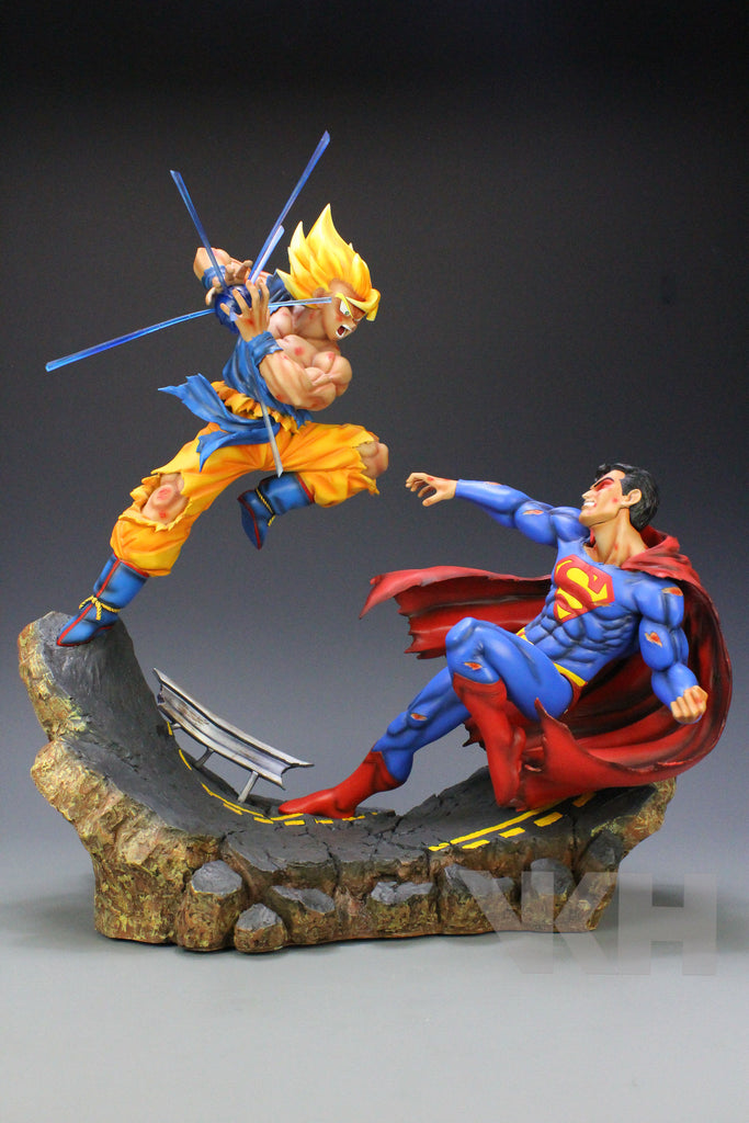 Tail Of The Dragon Photos >> Dragon Ball x DC VKH Super Saiyan Son Goku VS Superman Resin Statue – SHINGEKI SHOP