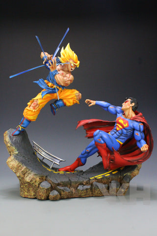 Dragon Ball x DC VKH Super Saiyan Son Goku VS Superman Resin Statue (Reissue)