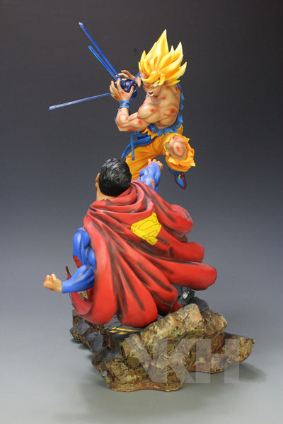 Dragon Ball x DC VKH Super Saiyan Son Goku VS Superman Resin Statue