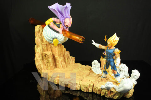 Dragon Ball VKH Majin Vegeta vs Buu Resin Statue (Reissue)