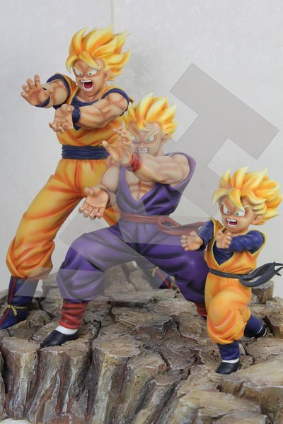 Dragon Ball VKH Triple Kamehameha Resin Statue