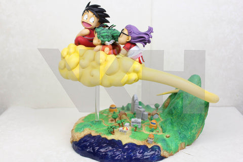 Dragon Ball VKH Young Son Goku & Arale & Gatchans Original Manga Version Resin Statue