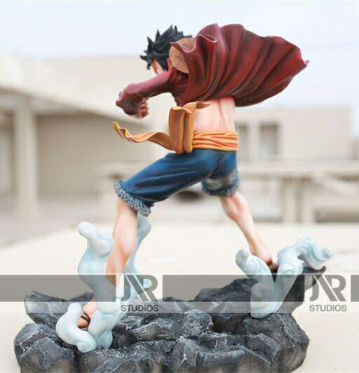 One Piece Jr Studios Monkey D Luffy Resin Statue Shingeki