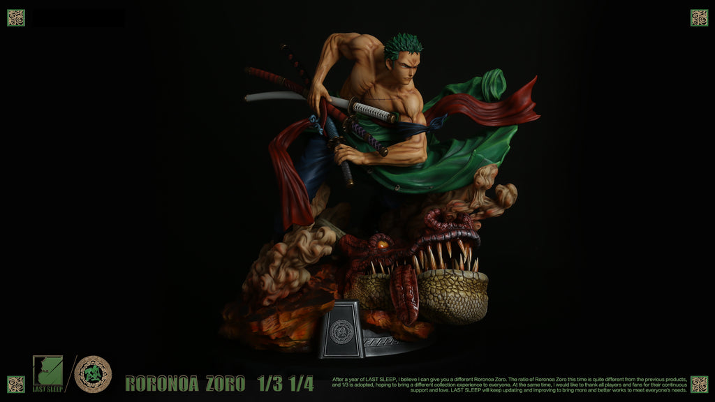 One Piece - Last Sleep - 1/3 and 1/4 Roronoa Zoro Resin Statue