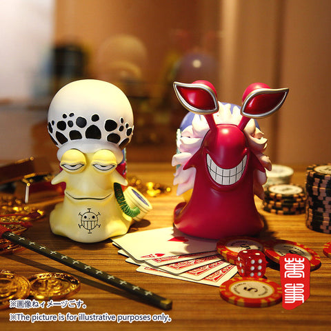 [PO] One Piece LSeven POWERMAX Den Den Mushi Donquixote Doflamingo and Trafalgar Law Version