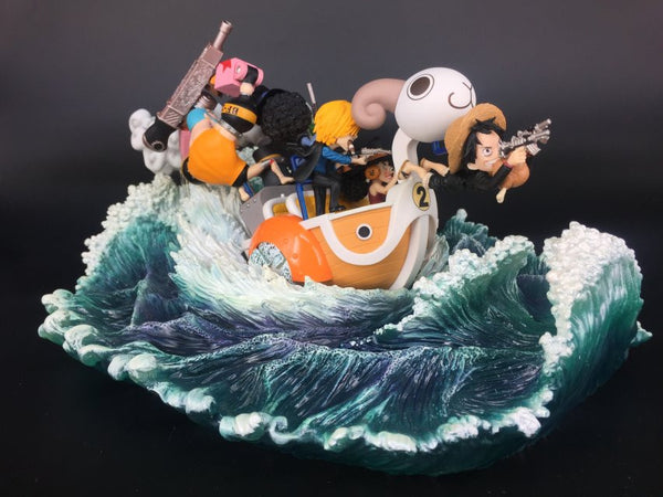 One Piece LeaGue WCF Mini Merry Attack Wave Effect Accessory