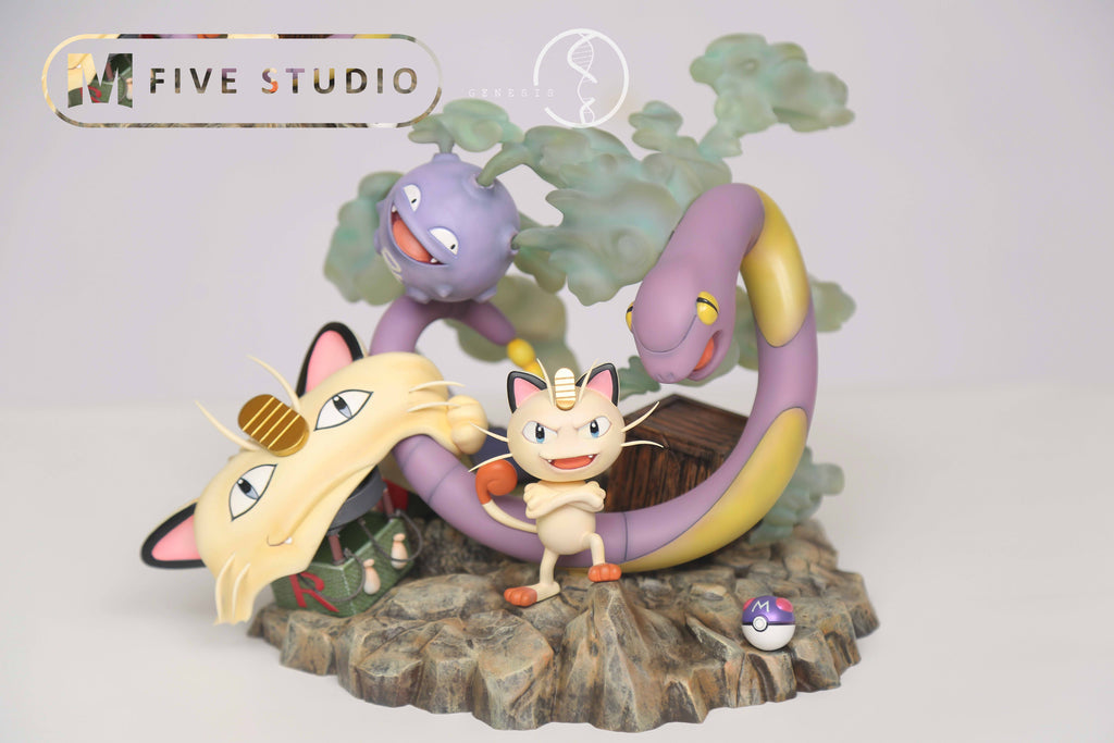 Pokemon - M5 Studio - Team Rocket Meowth / Ekans / Koffing Resin Statue