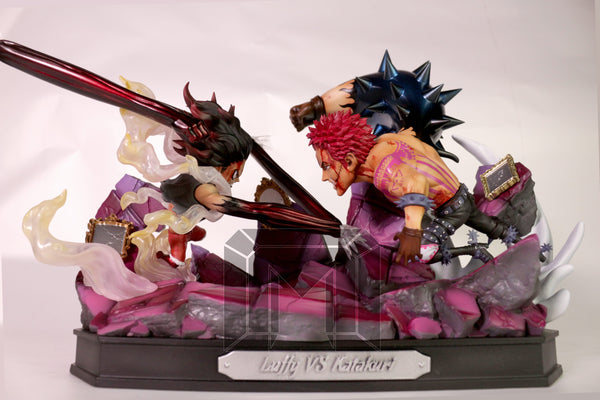"[PO] One Piece - Model Palace - SD Battle Series ""Gear Fourth Snakeman"" Monkey D. Luffy VS Charlotte Katakuri Resin Statue"