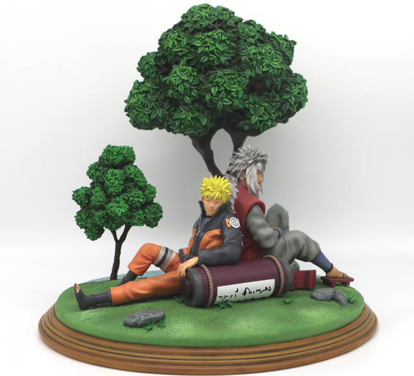 Naruto Shippuden - Ofubito Resins - Uzumaki Naruto and Jiraiya Resin Statue