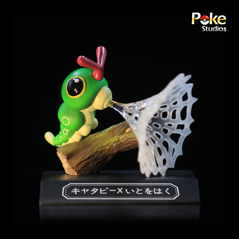 Pokemon Poke Studios Waza Museum Caterpie Resin Figure