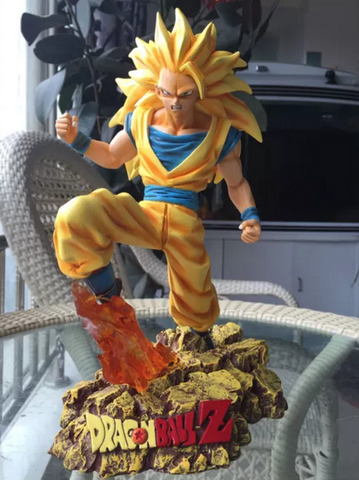 Dragon Ball Super Saiyan 3 Son Goku SSJ3 Resin Statue