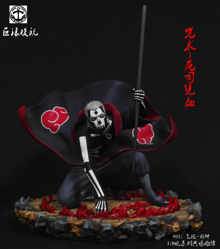 "Naruto Shippuden - Surge Studio - ""Curse Technique: Death Controlling Possessed Blood"" Akatsuki Hidan Resin Statue"