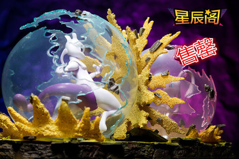 Pokemon Xing Chen Ge SP0 Mew VS Mewtwo Resin Statue