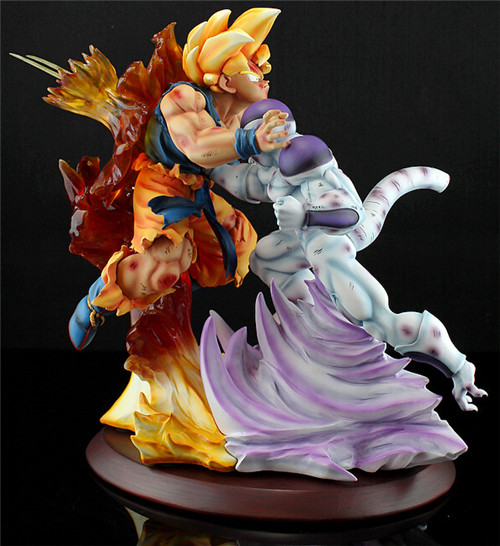 Dragon Ball MRC Super Saiyan Son Goku VS Freeza/Frieza Resin Statue