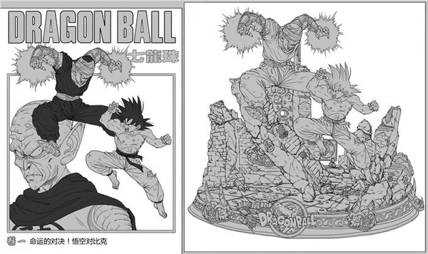 [PO] Dragon Ball GEL Son Goku VS Piccolo Resin Statue