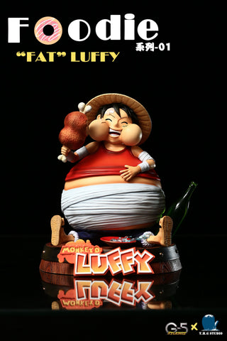 "One Piece - THG Studio & G5 Studios - Foodie Series 01 ""Fat"" Monkey D. Luffy Resin Statue"
