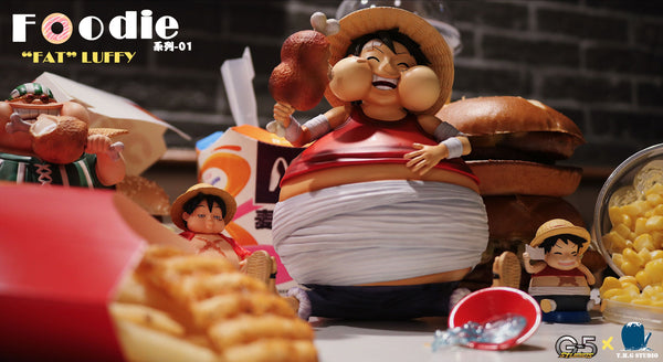 "[PO] One Piece - THG Studio & G5 Studios - Foodie Series 01 ""Fat"" Monkey D. Luffy Resin Statue"