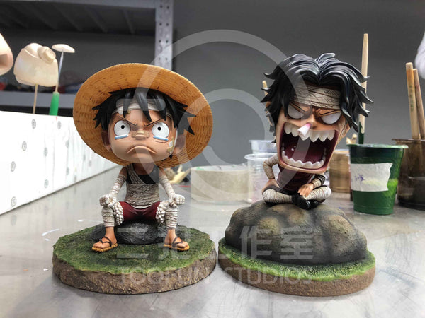 [Back Order] One Piece - TooFun Studios - TFUN003 SD Bandaged Childhood Portgas D. Ace Resin Statue