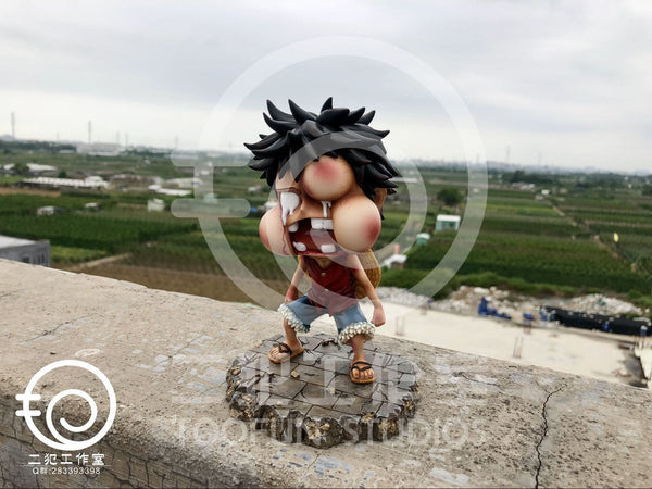 [Back Order] One Piece - TooFun Studios - TFUN007 SD Monkey D. Luffy Swollen Face Ver Resin Statue